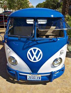 Electric Blue VW Bus