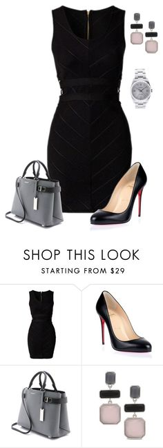 """""""Untitled #607"""" by angela-vitello on Polyvore featuring Christian Louboutin, Michael Kors, Chico's and Rolex"""