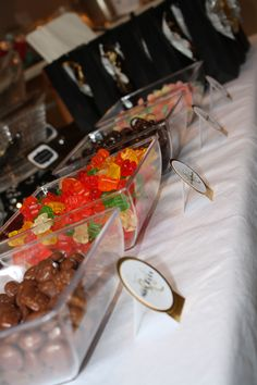 movie candy buffet -- for a movie night party or Oscar party