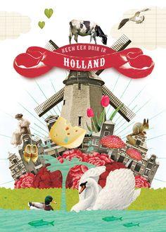 Groeten uit Holland   Postcrossing www.hipenstipkaarten.nl