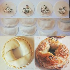 Savory Pastry Bracelets filled with Herbed Cheese #borek #atelierchristine