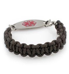 Rough Paracord Medical Alert Bracelet