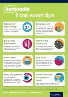 8 top exam tips Exam Revision, Revision Tips, Exams Tips, Motivation, Education, Top, Onderwijs, Learning, Crop Shirt