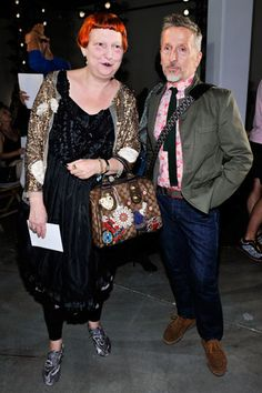 Lynn Yeager and Simon Doonan
