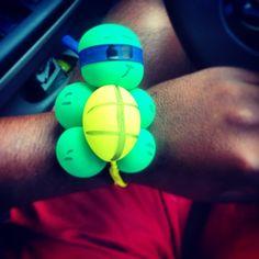 ninja turtle bracelet Turtle Birthday Parties, Ninja Turtle Birthday, Ninja Turtle Party, Ninja Turtles, Balloon Crafts, Balloon Decorations, Balloon Ideas, Ballon Animals, Animal Balloons