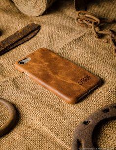 iPhone 7 Leather Cover, Hard Case | Classic Orange – Crazy Horse Craft
