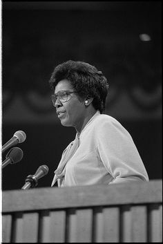Congresswoman Barbara Jordan's incisive questioning during the Nixon impeachment trials earned her nationwide respect. Her work was recognized when, in 1976, she was invited to be the first African-American and the first woman to deliver the keynote speech at the Democratic National Convention. | nwhm.org | National Women's History Museum | #WomensHistory #BarbaraJordan #BlackWomen #BlackHistory
