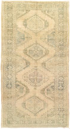 Product No: U-3064 Title: Vintage Oushak Runner Size: 4ft 08in X 9ft 04in Circa: 1940