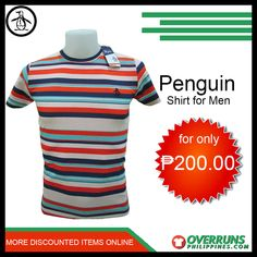 Shop our high-quality Penguin Casual t-Shirt for men at affordable prices. Discover our fashionable items in our large selection at OverrunsPhilippines. Shop now and get big discounts! Fashion Bazaar, Penguin T Shirt, Men's Shirts, Casual T Shirts, Penguins, Latest Trends, Shop Now, Comfy, Mens Tops