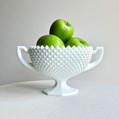 Hobnail milk glass
