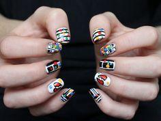 nail art inspired by Regina Spektors Fidelity music video!
