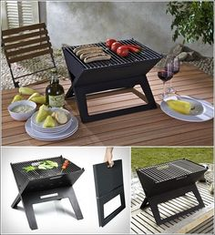 Amazing Interior Design 5 Cool Grills Perfect for Throwing Barbeque Parties Outdoor Rooms, Outdoor Dining, Outdoor Furniture Sets, Parrilladas Ideas, Petit Camping Car, Ideas Terraza, Balcony Grill, Portable Grill, Fire Pit Backyard