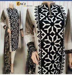 ا Stylish Dresses, Fashion Dresses, Dresses For Work, Dress Neck Designs, Blouse Designs, Sindhi Dress, Diy Fashion Hacks, Pakistani Dresses Casual, Kurta Designs Women