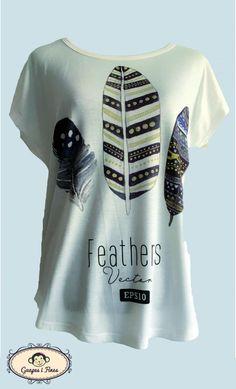 Camiseta Plumas