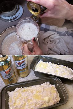 Beer bread, I might try to make this, not because I like beer, but because I like easy