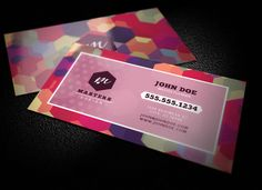 Bold Geometric Business Card Templat ~ Business Card Templates on Creative Market
