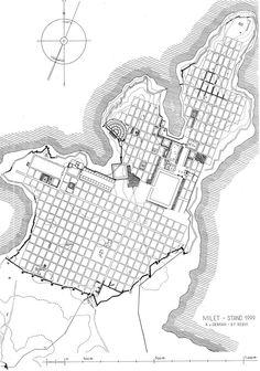 City plan, Miletus. After 479 B.C.