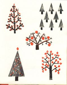 Potato Printing by Helen R Haddad (1981). Inspiration for DIY crafty Christmas for kids Postcards using Postick http://www.postcardhappiness.com/postick/