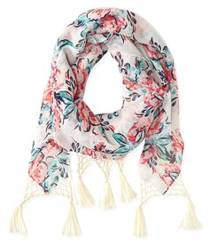 Aeropostale Floral Tassel Scarf Found on my new favorite app Dote Shopping #DoteApp #Shopping