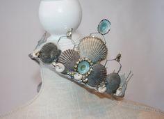 Beautiful Seafoam Mermaid Crown