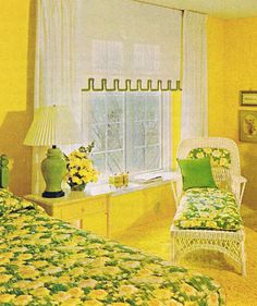 Teen sunflower room 1973