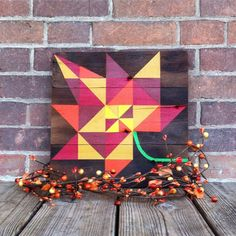 Maple Leaf Barn Quilt by GingerbreadKreations on Etsy https://www.etsy.com/listing/475335112/maple-leaf-barn-quilt
