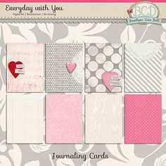 Everyday With You {Journaling Cards}