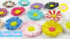 DIY Paper Craft: Paper Flowers Easy Room Decor.Party Decor#Projet Diy