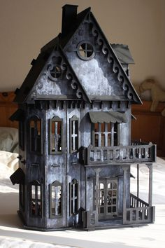 1:12 Scale GOTHIC WITCHES SPOOKY HAUNTED DOLLS HOUSE. OOAK hand-made painted. in Home, Furniture & DIY, Celebrations & Occasions, Party Supplies | eBay