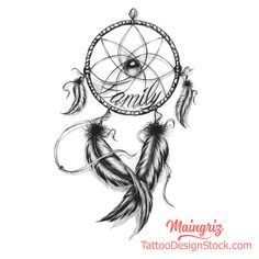 Dream Catcher tattoo design Tattoos And Body Art professional tattoo artist Native Tattoos, Wolf Tattoos, Body Art Tattoos, Tattoo Drawings, Sleeve Tattoos, Dream Tattoos, Elegant Tattoos, Unique Tattoos, Beautiful Tattoos