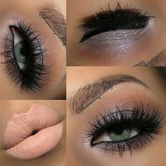 Nude lip and smokey eyes