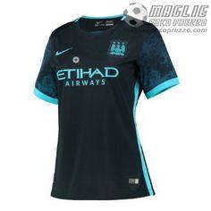 Away Maglia Calcio Donna Manchester City 2015-16