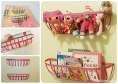 Planters turned Toy Storage. great idea. we have WAY too many stuffed animals and can't seem to part with them!