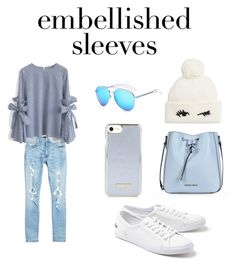 """embellished sleeves"" by gracefelicia on Polyvore featuring AMIRI, Lacoste, Chicwish, Armani Jeans and Kate Spade"