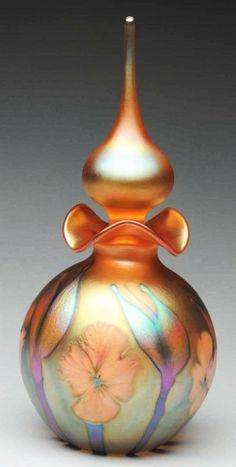 Large Art Glass Perfume Bottle.