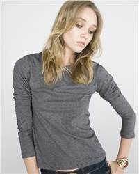 Soft cotton T-Shirt is ready for cooler weather with long sleeves. Perfect for work or weekends.