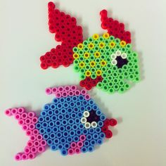 Fishes hama beads by pparlplattan