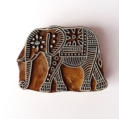 Elephant Stamp Indian Wood Block Printing Hand by GilbertsTree Indian Block Print, Indian Prints, Indian Textiles, Ancient Indian Art, Stamp Carving, Handmade Stamps, Indian Elephant, Wood Stamp, Pattern Blocks