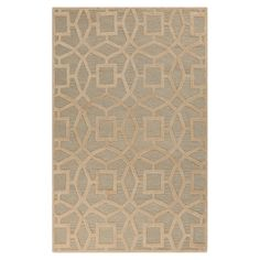 Showcasing a geometric trellis motif in slate, this lovely hand-tufted wool rug is perfect for adding a pop a pattern to your living room or master suite.
