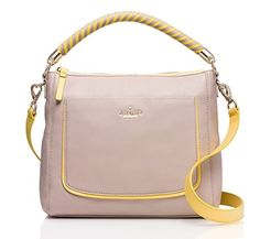 Women's Top-Handle Handbags - Kate Spade Woods Drive Small Harris Almond Sunlight ** More info could be found at the image url.