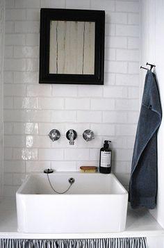 tile / sink / hooks [via remodelista]    http://remodelista.com/posts/house-call-swedish-guest-bathroom#