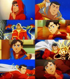 Billy Batson aka Captain Marvel/Shazam! in Justice League: War