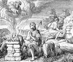 Bilder der Bibel - Die Opfer Kains und Abels - Julius Schnorr von Carolsfeld