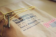 I love brown paper and string... makes gift giving personal and full of mystery