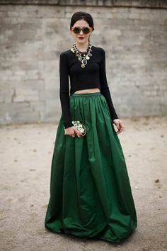 Espectacular falda verde