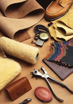 Leather Craft Information from Buying Skins to Sewing and Pressing Soft Leathercrafts