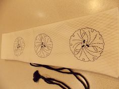 hand embroidery, motifs of Japanese culture