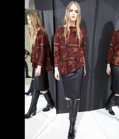 nude fashion knitwear jacquard skirt ecoleather abbigliamento maglieria