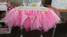 Diy first birthday highchair tutu