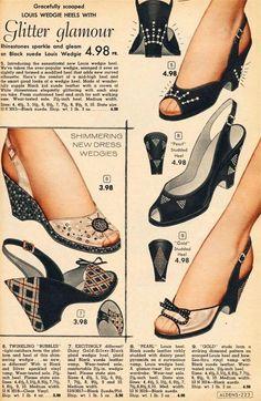 Chaussures Vintage - Publicité Catalogue - Aldens